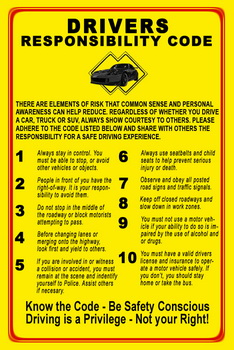 Drivers responsibility code