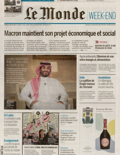 Le Monde Week-End & Suppléments du Samedi 21 Février 2014