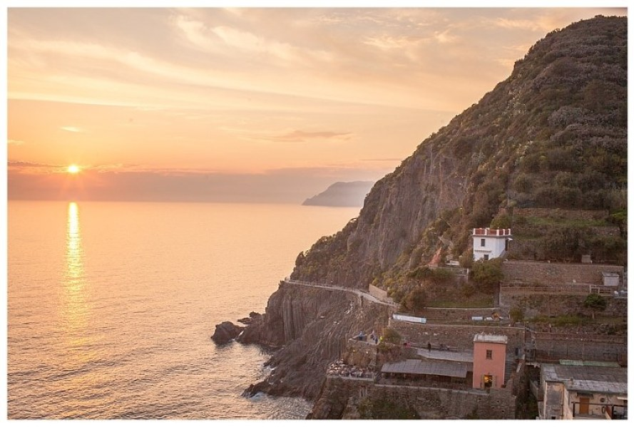 A collection of Riomaggiore postcard photos capturing the beauty of this small Italian village along the Ligurian coast from the early morning until sunset.