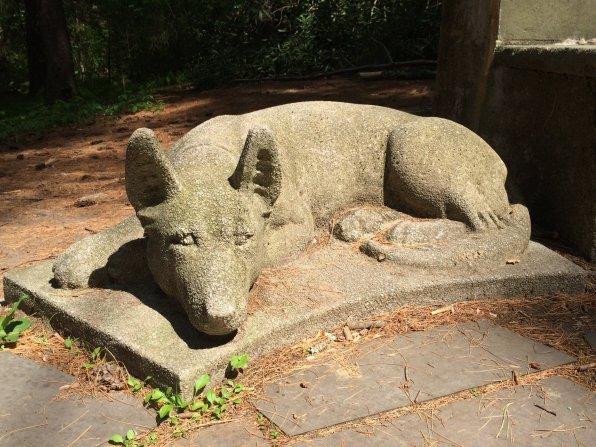 Statue at Sabine Woods, Groton, MA