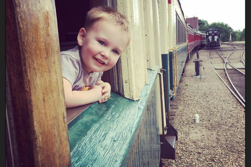 Harry at the Conway Scenic Railroad