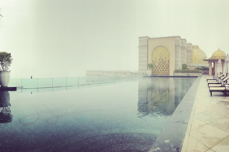 Rooftop pool in Leila Palace