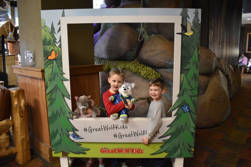 My kids at Great Wolf Lodge