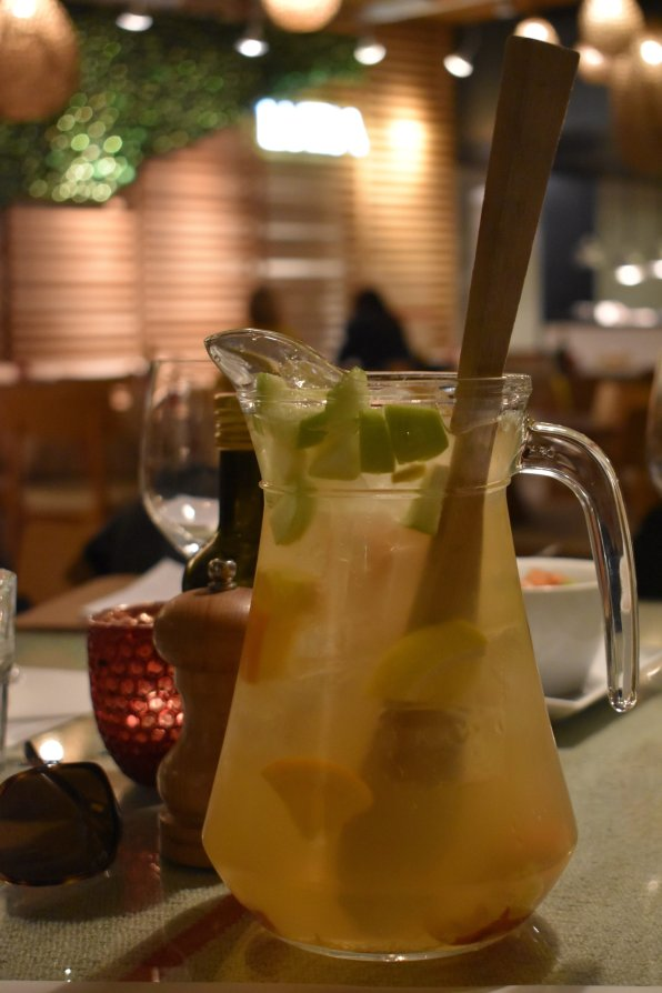 White white sangria pitcher