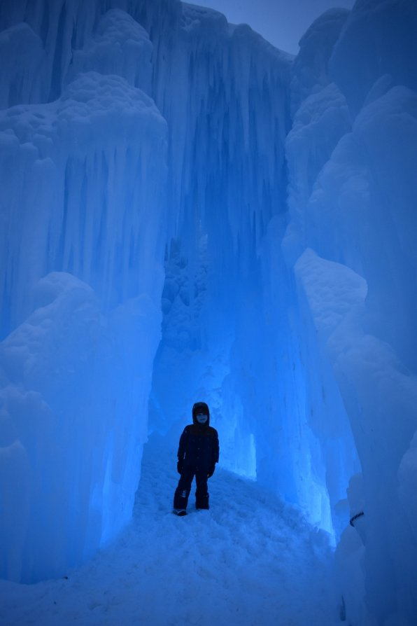 Andrew at the Ice Castles