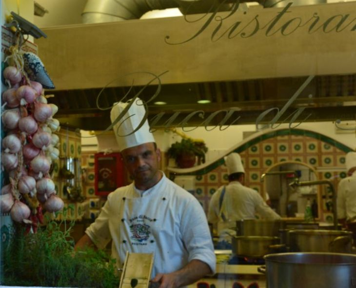 a chef in amalfi coast