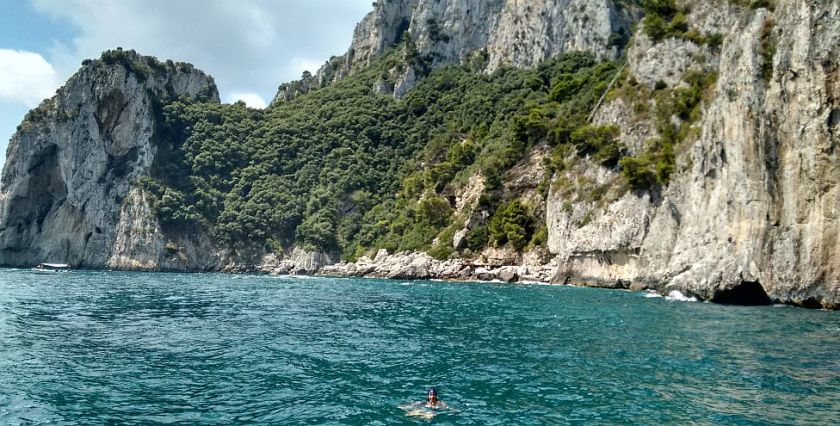 swimming near Capri