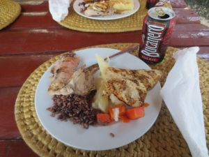 food with cuban beer