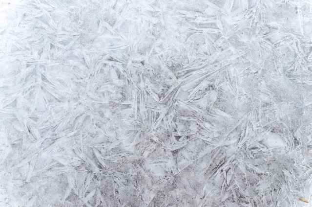 Ice shards in the middle of winter. Ice is extremely helpful in treating mastisis.