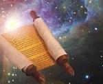 Torah scroll in space