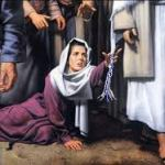Woman reaching for Jesus' tzitzit