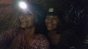 Ro and Maria in Hezekiah's Tunnel