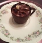 Chocolate cup filled with mousse