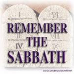 Remember the Sabbath