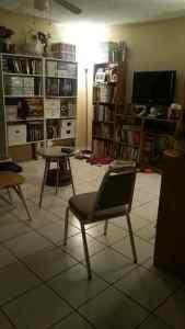 living room transition