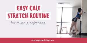 easy calf stretch routine