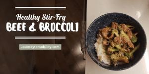 healthy beef and broccoli stir fry recipe