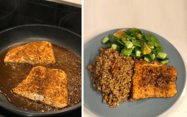 GoodFood Review Orange and Turmeric Glazed Salmon