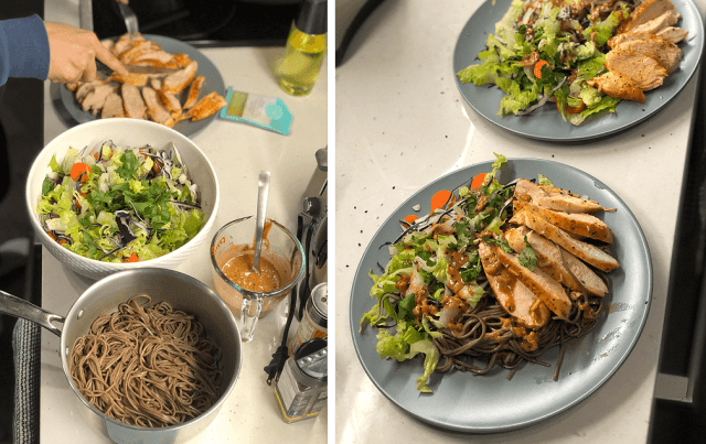 GoodFood Review Soba Chicken Noodle Bowl with Lettuc
