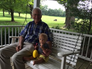 Grandpa Jones came to visit us while we stayed in the Chase farmhouse