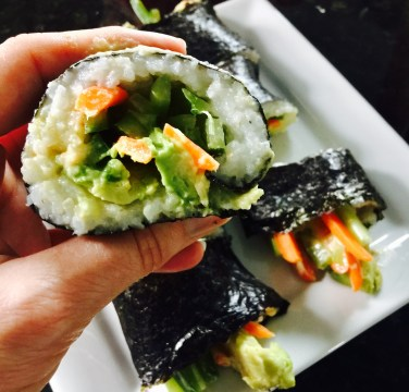 Nori Rolls with Spicy Tahini Sauce