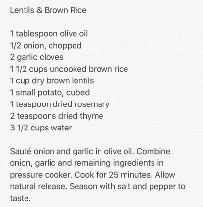 Lentils & Brown Rice