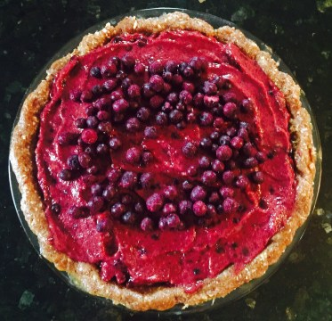 Raw Wild Blueberry Pie