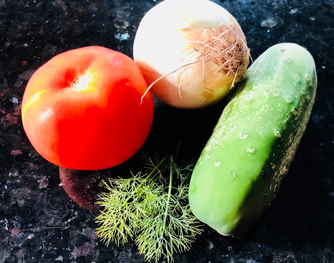 Cucumber Tomato and Dill Salad