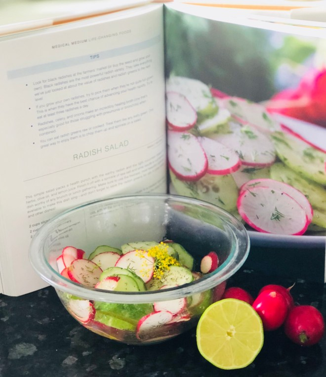 Radish Cucumber Dill Salad