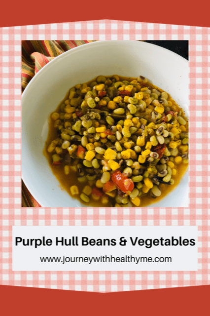 Purple Hull Beans and Vegetables Title Meme