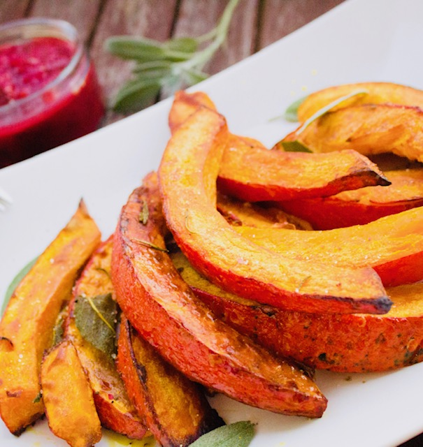 Roasted pumpkin slices