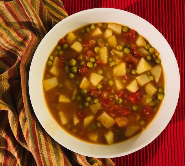 Aloo Matar Soup Bowl