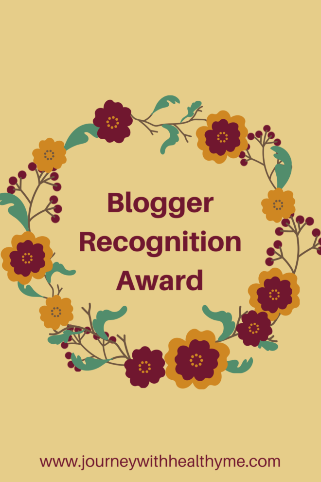 Blogger Recognition Award title meme
