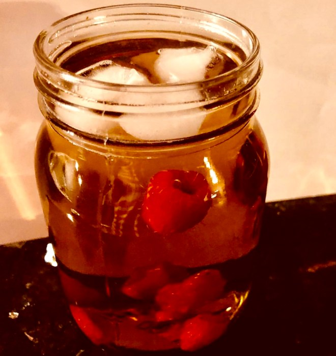 Herbal Iced Teas for Summer thyme with raspberries