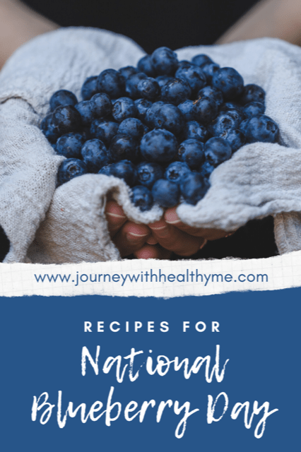 Recipes for National Blueberry Day title meme
