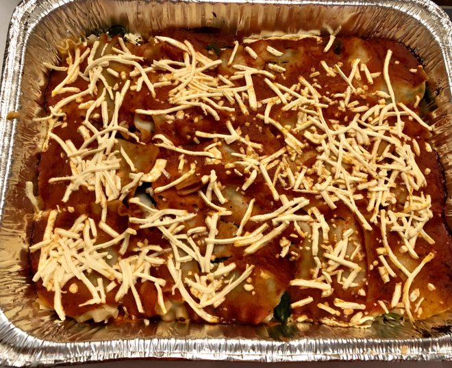 Vegan Spinach Lasagna baked