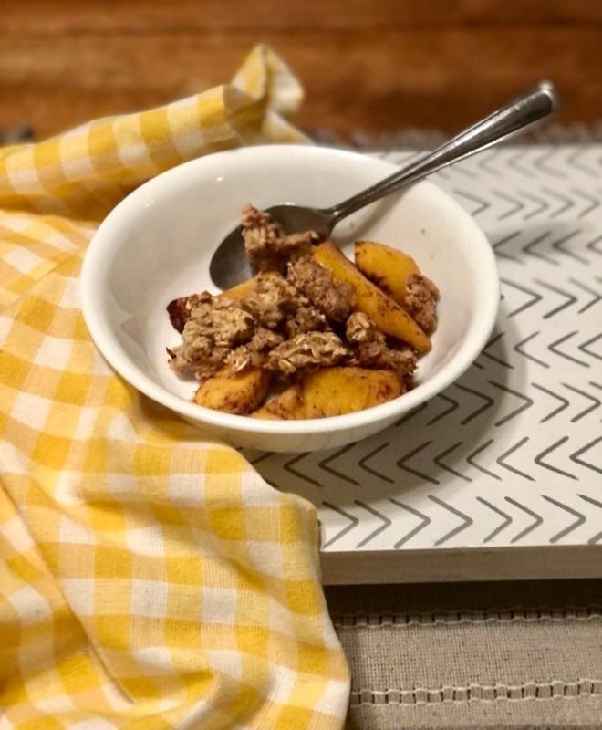 Bowl of Peach Cobbler