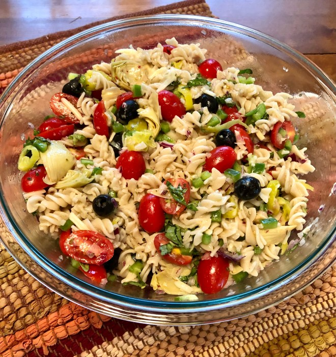 Gluten Free Mediterranean Pasta Salad