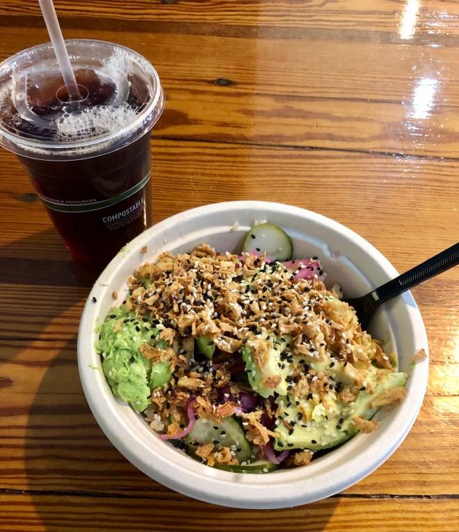 Vegan Eats in Charleston beech poke bowl