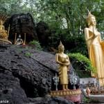 Buddha's line the path up Phou Si