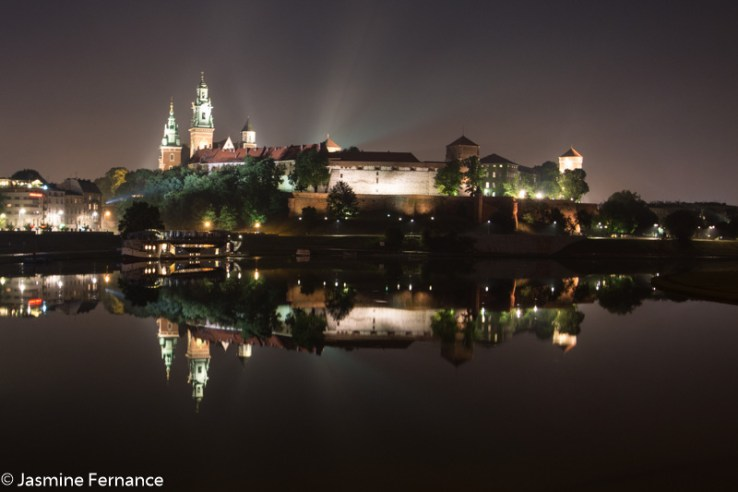Wawel Castle at night, Krakow