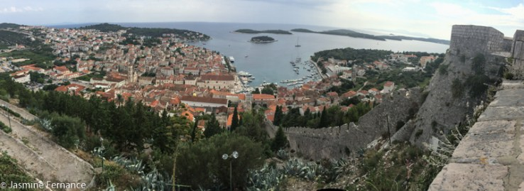 View of Hvar town from the fortress