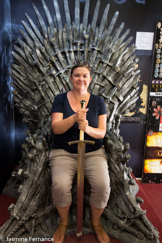 Jasmine Fernance on the Iron Throne