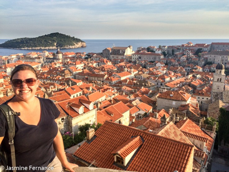 View of Dubrovnik from atop the walls