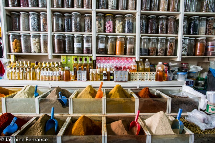 Shopping for spices in the Marrakech souks