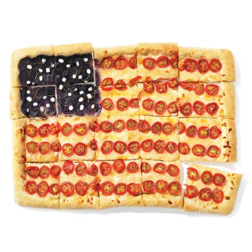 American Flag Pizza Pie