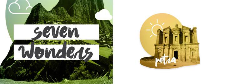 Seven Wonders iMsg Sticker Pack