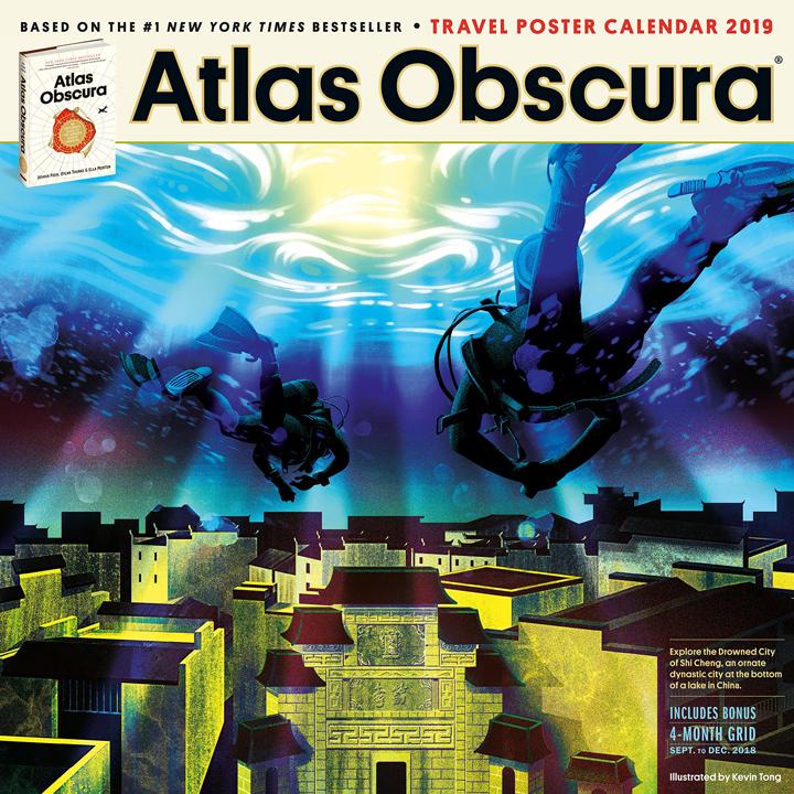 Atlas Obscura wall calender