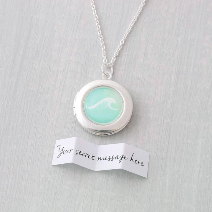 Wave Necklace Secret Message