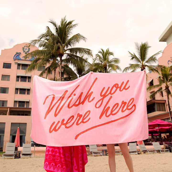 Wish You Were Here Giant Towel
